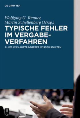 Renner / Schellenberg | Typische Fehler im Vergabeverfahren | Buch | Sack Fachmedien