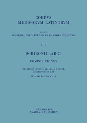 Sconocchia | Scribonii Largi Compositiones | Buch | sack.de
