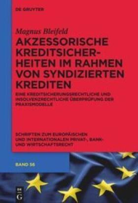Bleifeld   Akzessorische Kreditsicherheiten im Rahmen von syndizierten Krediten   Buch   sack.de