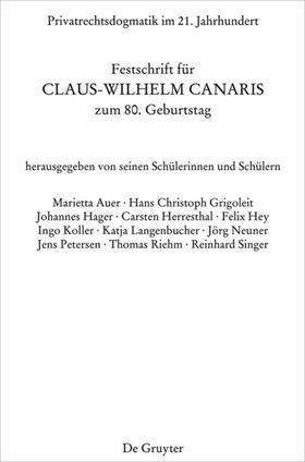 Petersen / Grigoleit | Privatrechtsdogmatik im 21. Jahrhundert | Buch | sack.de