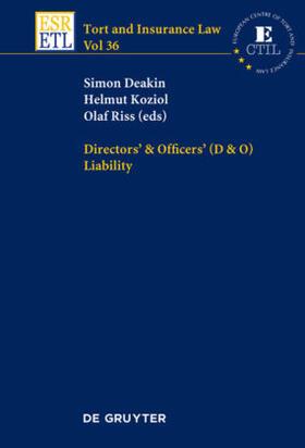 Koziol / Riss / Deakin   Directors & Officers (D & O) Liability   Buch   Sack Fachmedien