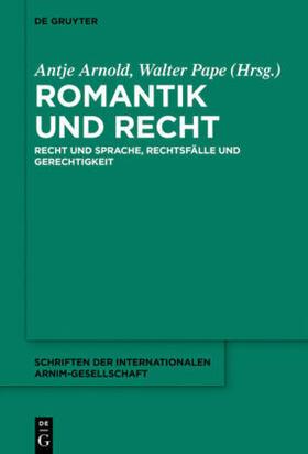 Arnold / Pape | Romantik und Recht | Buch | sack.de