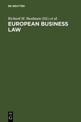 Buxbaum / Hirsch / Hopt | European Business Law | E-Book | sack.de
