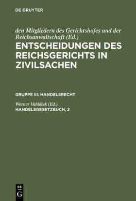 Vahldiek   Handelsgesetzbuch, 2   Buch   sack.de