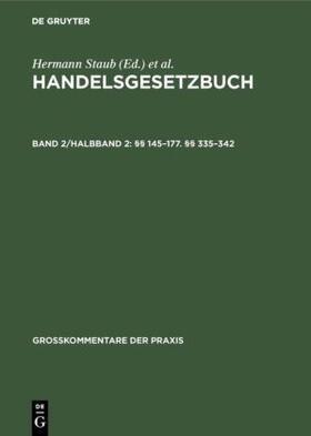 Brüggemann / Fischer / Ratz | §§ 145–177. §§ 335–342 | Buch | sack.de