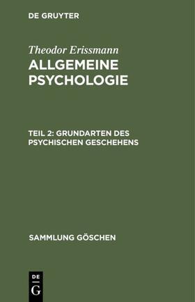 Erissmann   Grundarten des psychischen Geschehens   Buch   sack.de