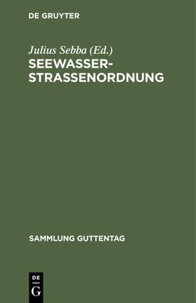 Sebba   Seewasserstraßenordnung   Buch   sack.de