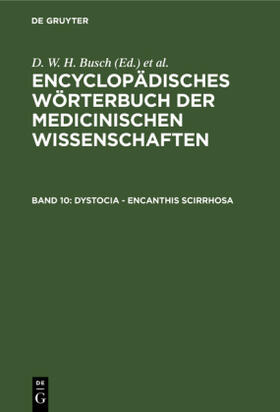 Busch / Hufeland / Rudolphi   Dystocia - Encanthis scirrhosa   Buch   sack.de