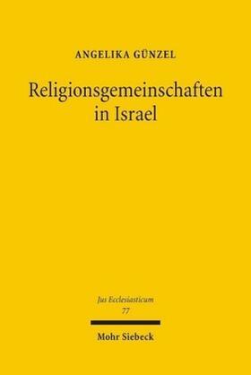 Günzel | Religionsgemeinschaften in Israel | Buch | sack.de
