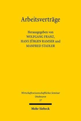Franz / Ramser / Stadler | Arbeitsverträge | Buch | sack.de