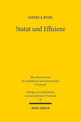 Rühl | Statut und Effizienz | Buch | sack.de