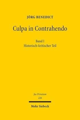 Benedict | Culpa in Contrahendo | Buch | Sack Fachmedien