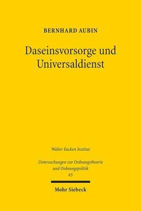 Aubin | Daseinsvorsorge und Universaldienst | Buch | sack.de