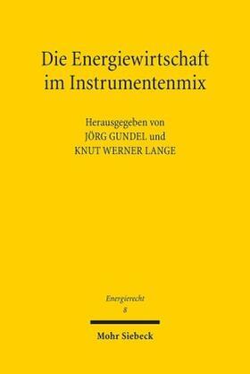 Gundel / Lange   Die Energiewirtschaft im Instrumentenmix   Buch   sack.de