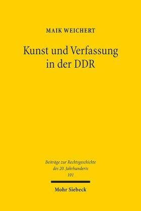 Weichert | Kunst und Verfassung in der DDR | Buch | sack.de