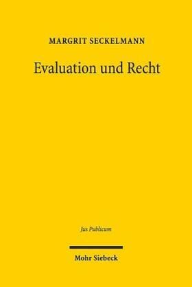 Seckelmann   Evaluation und Recht   Buch   Sack Fachmedien