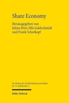 Dörr / Goldschmidt / Schorkopf | Share Economy | Buch | sack.de