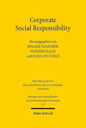Fleischer / Kalss / Vogt | Corporate Social Responsibility | Buch | sack.de
