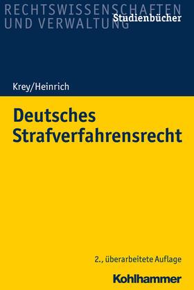 Krey / Heinrich | Deutsches Strafverfahrensrecht | Buch