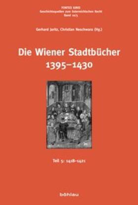 Die Wiener Stadtbücher 1395-1430   Buch   Sack Fachmedien