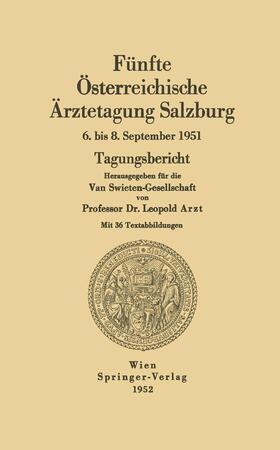 Arzt   Fünfte Österreichische Ärztetagung Salzburg   Buch   sack.de