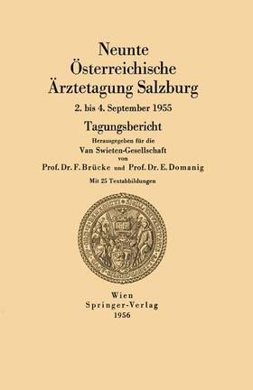 Brücke / Domanig | Neunte Österreichische Ärztetagung Salzburg | Buch | sack.de