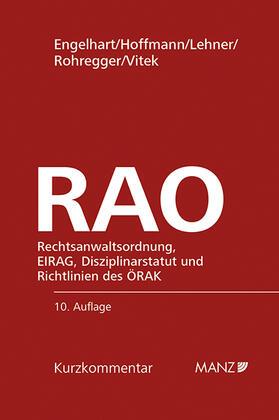 Engelhart / Hoffmann / Lehner | RAO Rechtsanwaltsordnung | Buch | sack.de