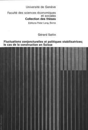 Sallin | Fluctuations conjoncturelles et politiques stabilisatrices; Le cas de la construction en Suisse | Buch | sack.de