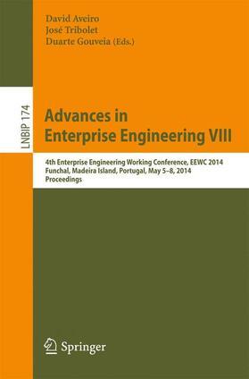Aveiro / Tribolet / Gouveia | Advances in Enterprise Engineering VIII | Buch | sack.de