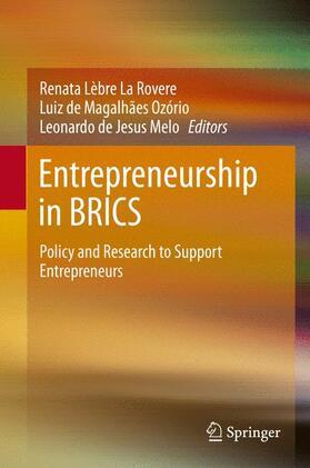 Lèbre La Rovere / de Jesus Melo / de Magalhães Ozório   Entrepreneurship in BRICS   Buch   sack.de