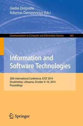 Dregvaite / Damasevicius   Information and Software Technologies   Buch   sack.de