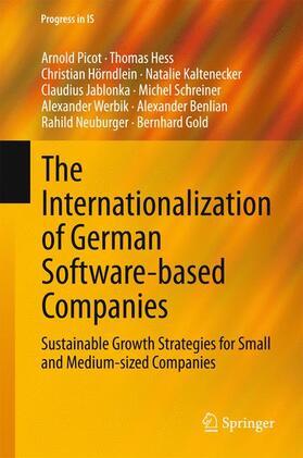 Picot / Hess / Hörndlein | The Internationalization of German Software-based Companies | Buch | sack.de