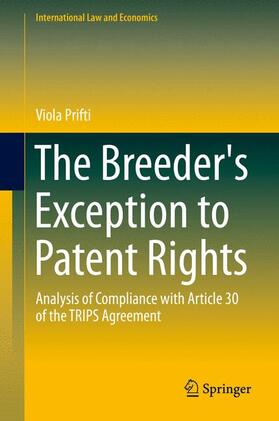 Prifti | The Breeder's Exception to Patent Rights | Buch | sack.de