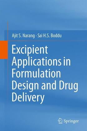 Narang / Boddu | Excipient Applications in Formulation Design and Drug Delivery | Buch | sack.de