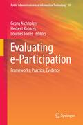 Aichholzer / Kubicek / Torres    Evaluating e-Participation   eBook   Sack Fachmedien