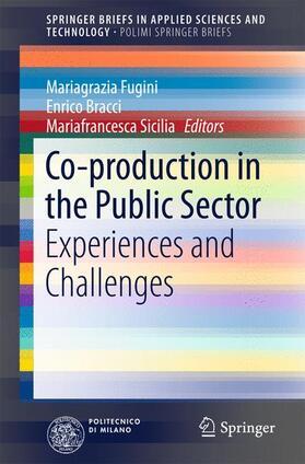 Fugini / Bracci / Sicilia   Co-production in the Public Sector   Buch   sack.de