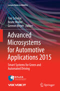 Schulze / Meyer / Müller    Advanced Microsystems for Automotive Applications 2015   Buch    Sack Fachmedien