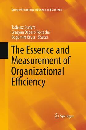 Dudycz / Brycz / Osbert-Pociecha | The Essence and Measurement of Organizational Efficiency | Buch | sack.de