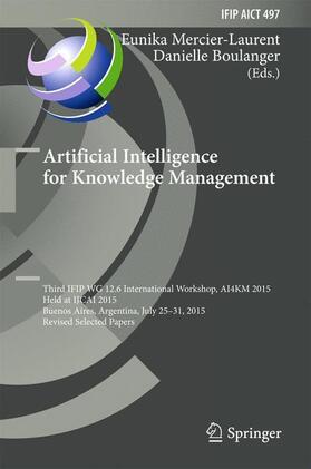 Mercier-Laurent / Boulanger | Artificial Intelligence for Knowledge Management | Buch | sack.de