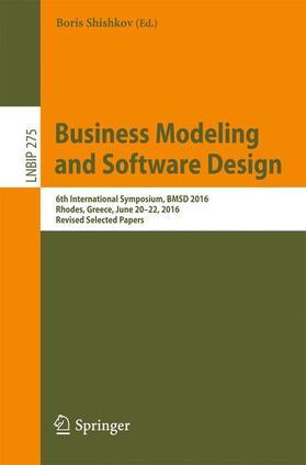 Shishkov   Business Modeling and Software Design   Buch   sack.de