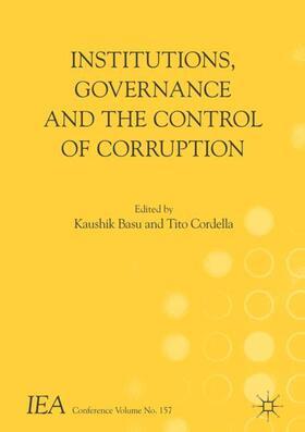 Basu / Cordella   Institutions, Governance and the Control of Corruption   Buch   sack.de