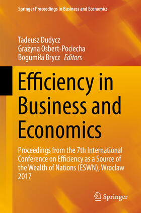 Dudycz / Osbert-Pociecha / Brycz | Efficiency in Business and Economics | Buch | sack.de