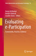 Aichholzer / Torres / Kubicek    Evaluating e-Participation   Buch    Sack Fachmedien