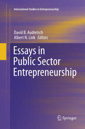 Audretsch / Link | Essays in Public Sector Entrepreneurship | Buch | sack.de