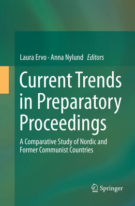 Ervo / Nylund | Current Trends in Preparatory Proceedings | Buch | sack.de
