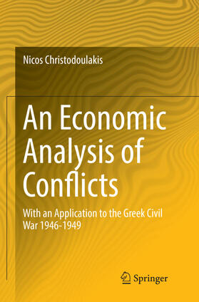 Christodoulakis   An Economic Analysis of Conflicts   Buch   sack.de