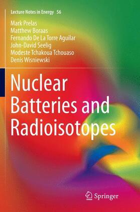 Prelas / Boraas / De La Torre Aguilar | Nuclear Batteries and Radioisotopes | Buch | sack.de