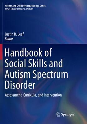 Leaf | Handbook of Social Skills and Autism Spectrum Disorder | Buch | sack.de