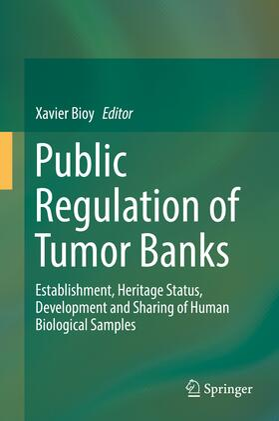 Bioy | Public Regulation of Tumor Banks | Buch | sack.de