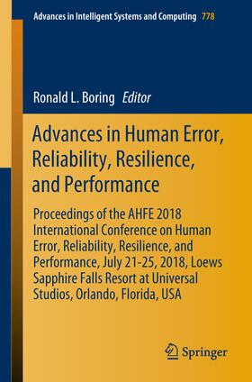 Boring | Advances in Human Error, Reliability, Resilience, and Performance | Buch | sack.de
